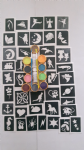 200 x tattoos stencil glitter set including 10 glitter colours + glue    fundraising